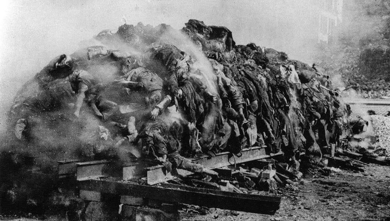 A-pile-of-bodies-awaits-cremation-after-the-bombing-of-Dresden,-1945